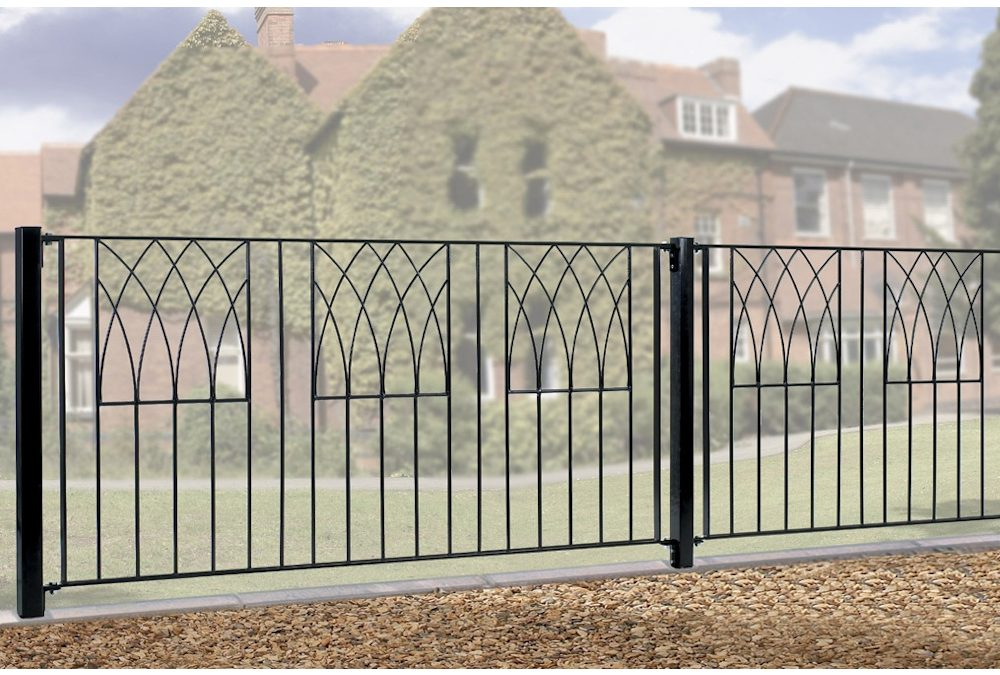 Abbey Modern Metal Fence Fencing Panel 812mm High
