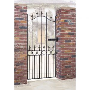 metal garden gate, wrought iron gate