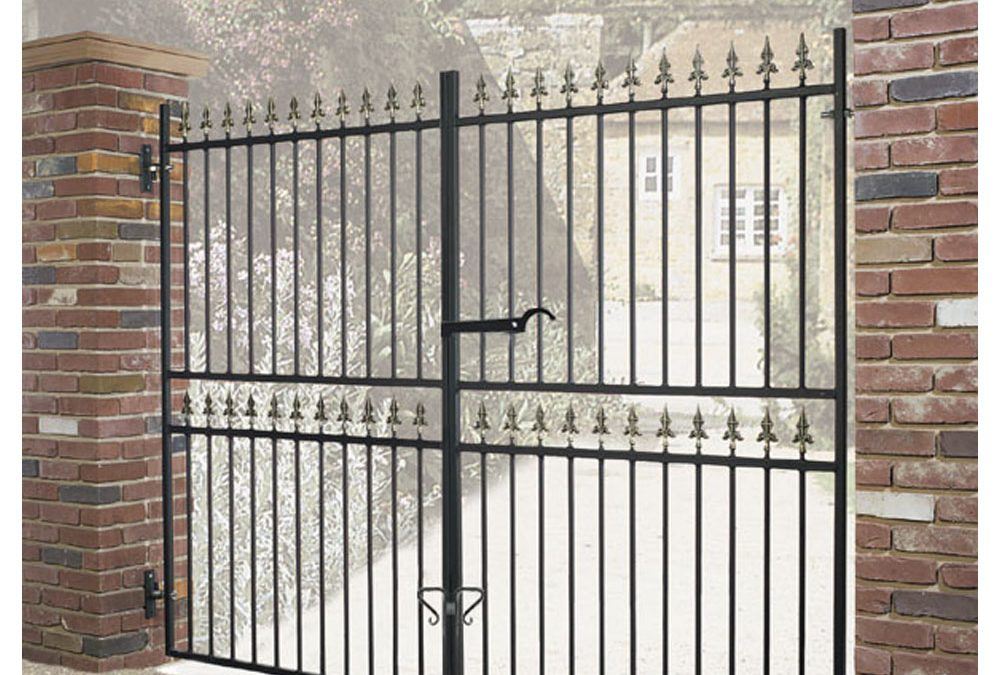Corfe Metal Estate Driveway Gate 1778mm High Wrought Iron Style