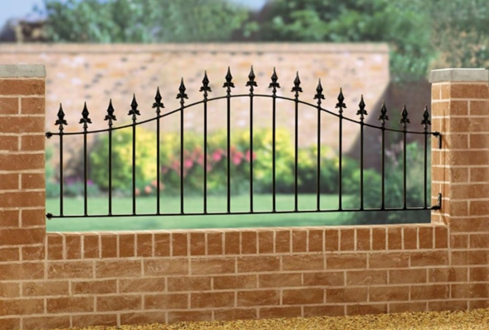 Saxon Spear Top Arched Metal Railing Panel 660mm High