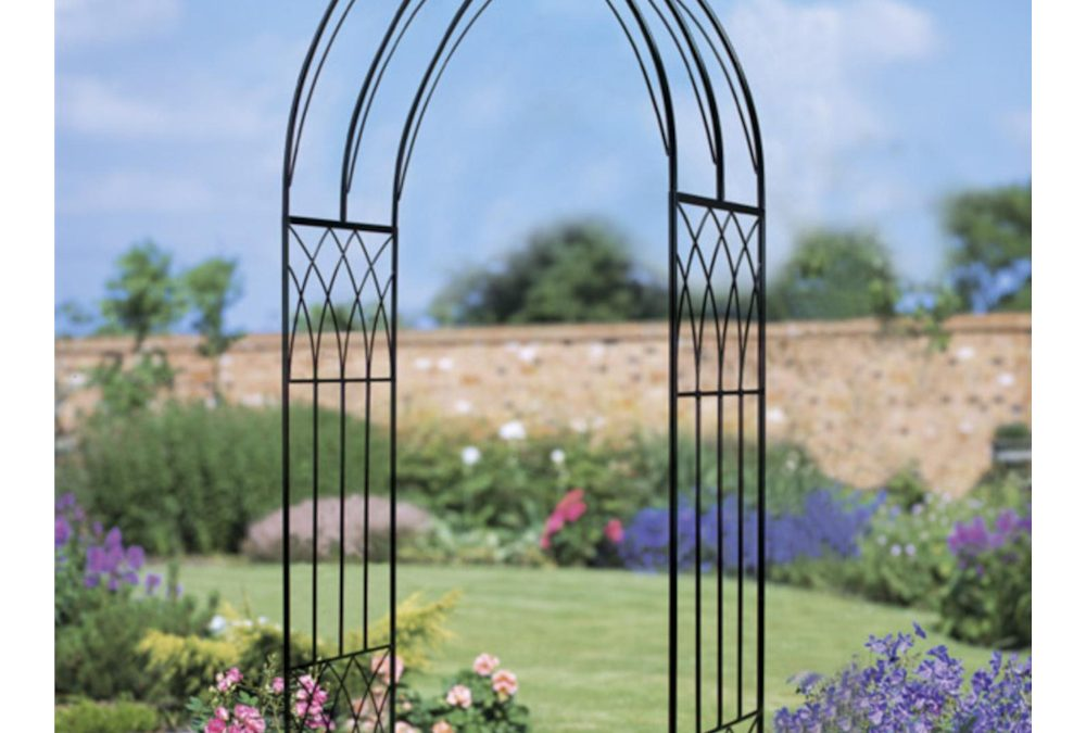 Abbey Modern Metal Rose Arch Arbour