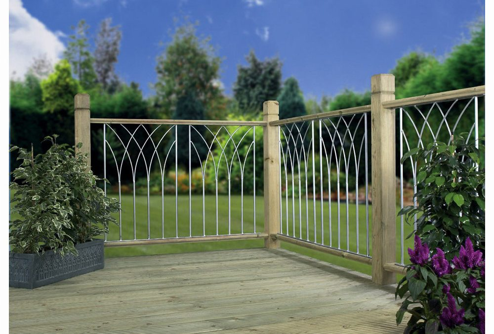 Bali Metal Deck Decking Infill Fence Panel (RAL9006)