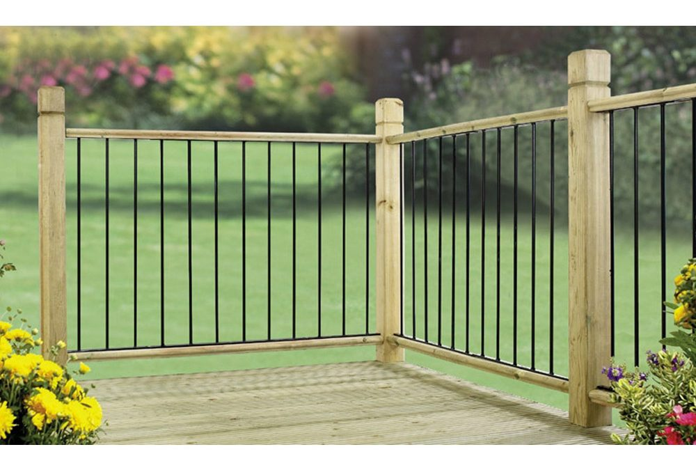 Garda Metal Deck Decking Infill Fence Panel (Black)