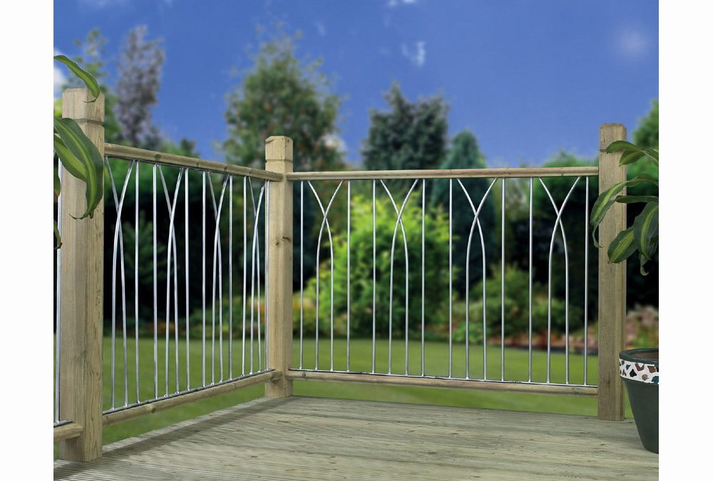 Plaza Metal Deck Decking Infill Fence Panel (Silver)