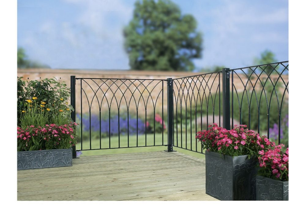 Nova Metal Deck Decking Garden Fence Panel