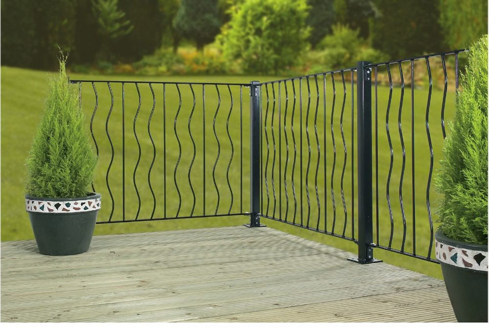 Ripple Metal Deck Decking Garden Fence Panel