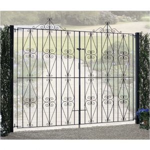stirling tall double metal driveway gates
